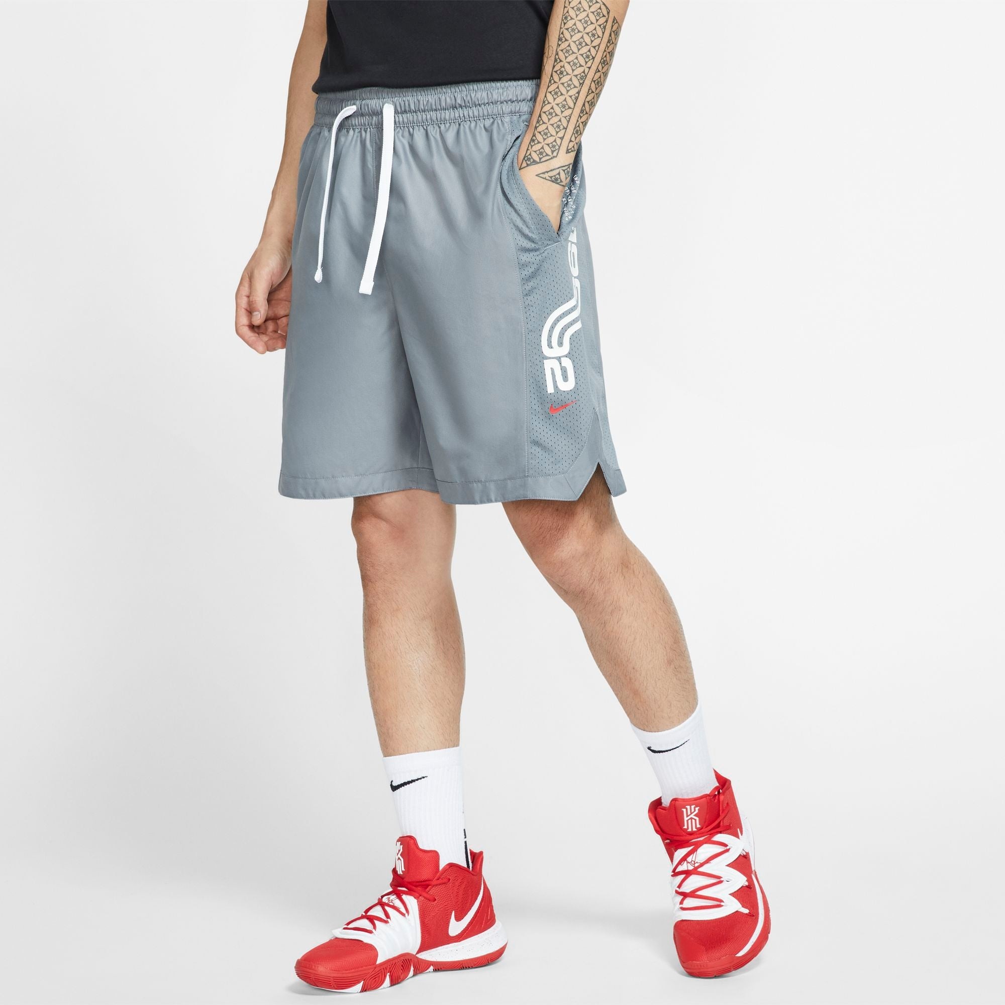 Nike Kyrie Dri-Fit Basketball Shorts - Cool Grey/University Red