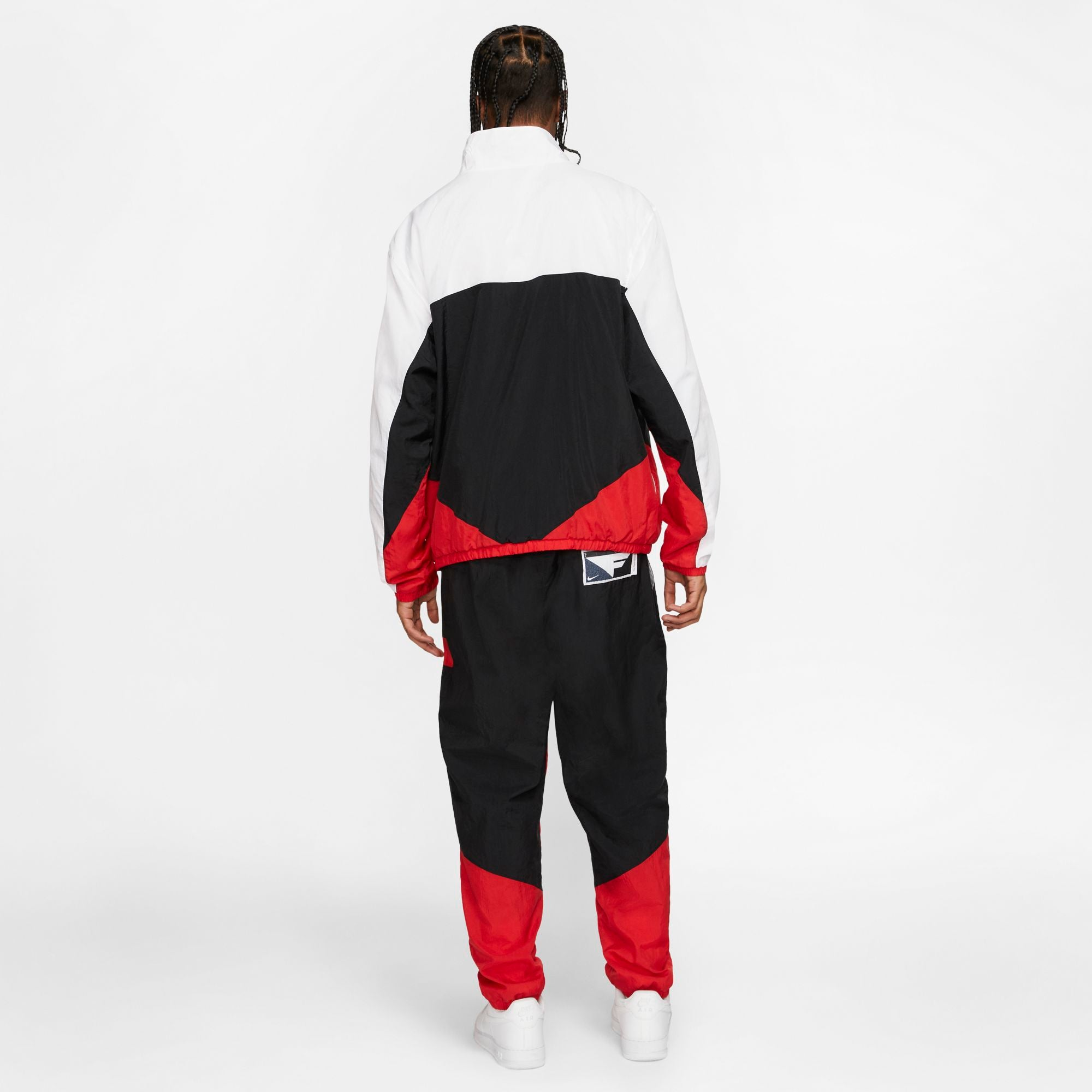 Nike Basketball Flight Warm-Up Suit - Black/White/University Red