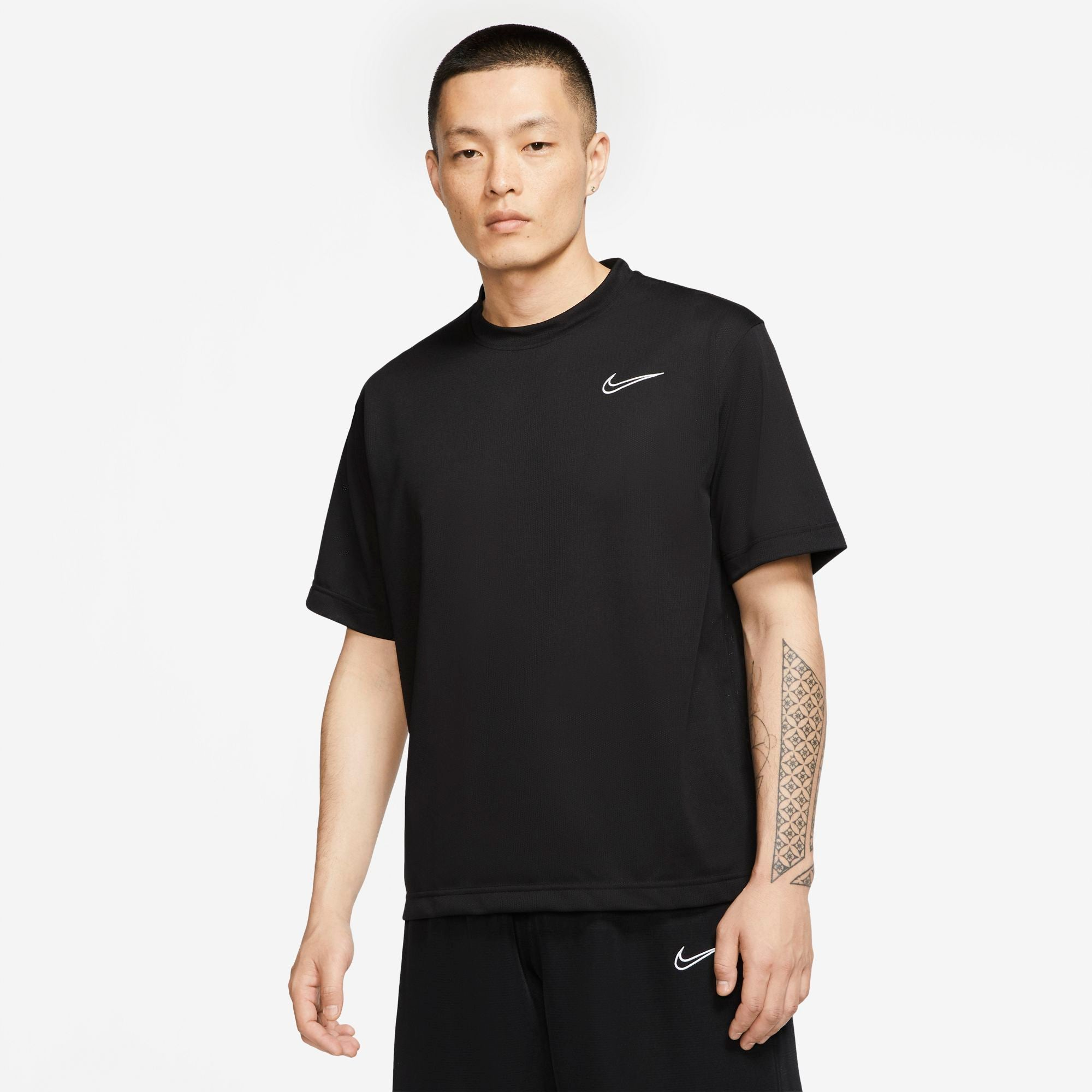 Nike Basketball Dri-Fit Classic Short Sleeved Top - Black/White