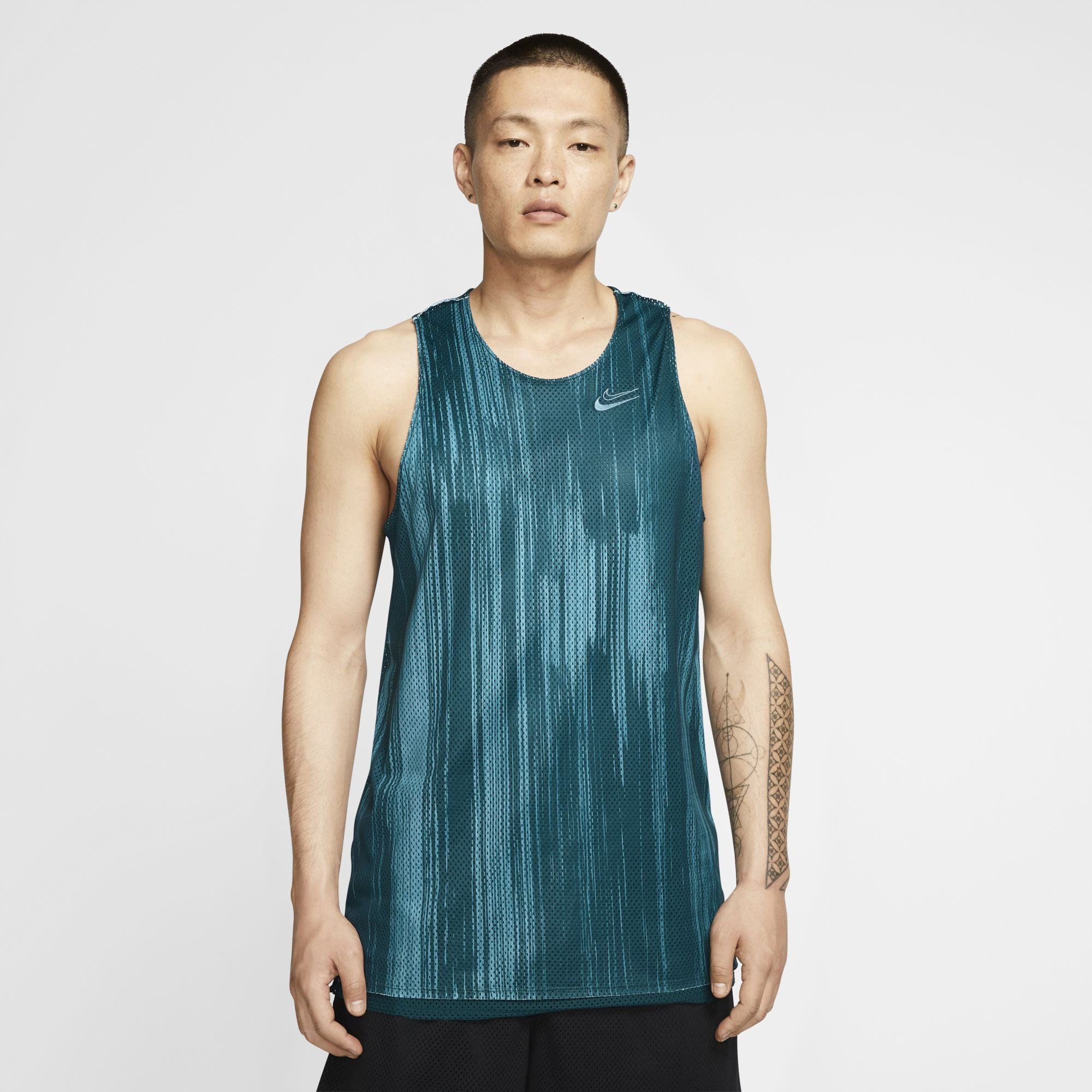 Nike KD Dri-fit Reversible Basketball Jersey - Midnight Turquoise/Cerulean