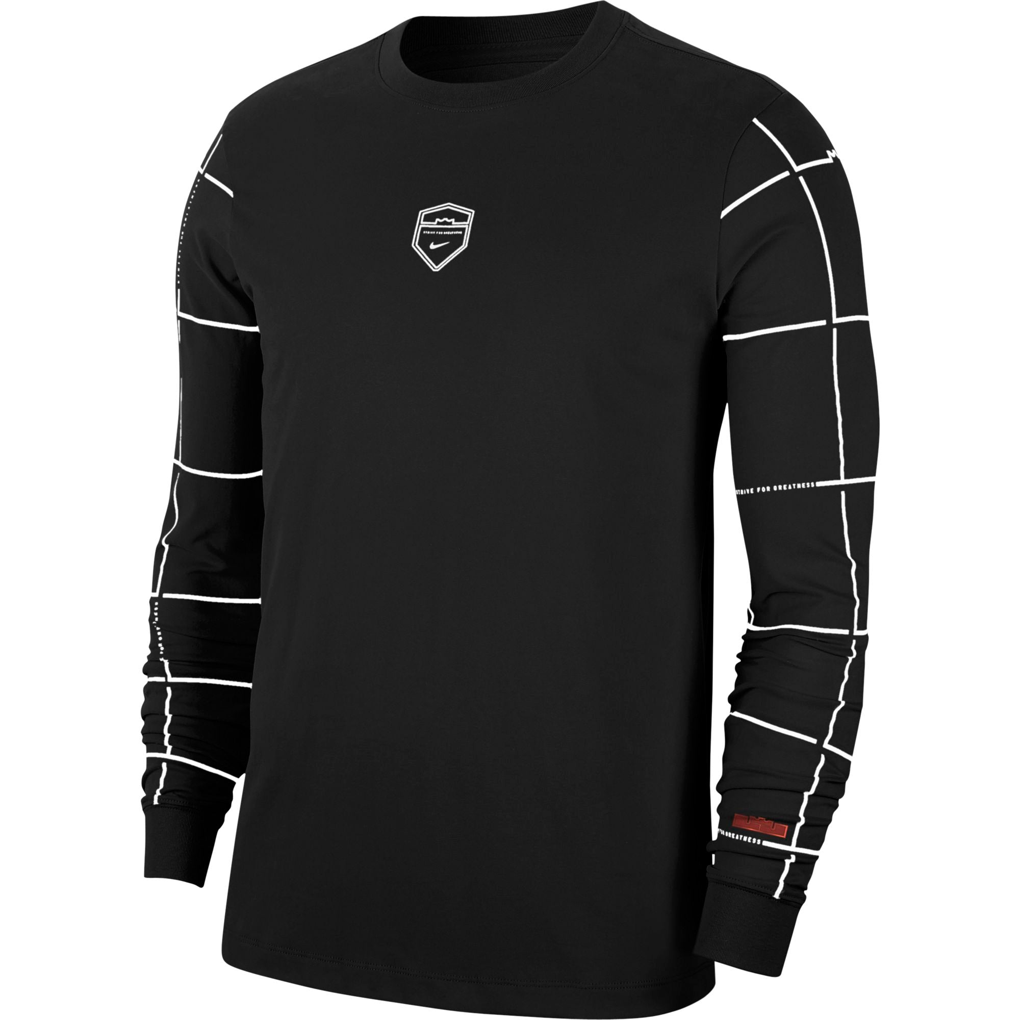 Nike Lebron Dri-fit Long-Sleeved Basketball Tee - NK-CD0925-010