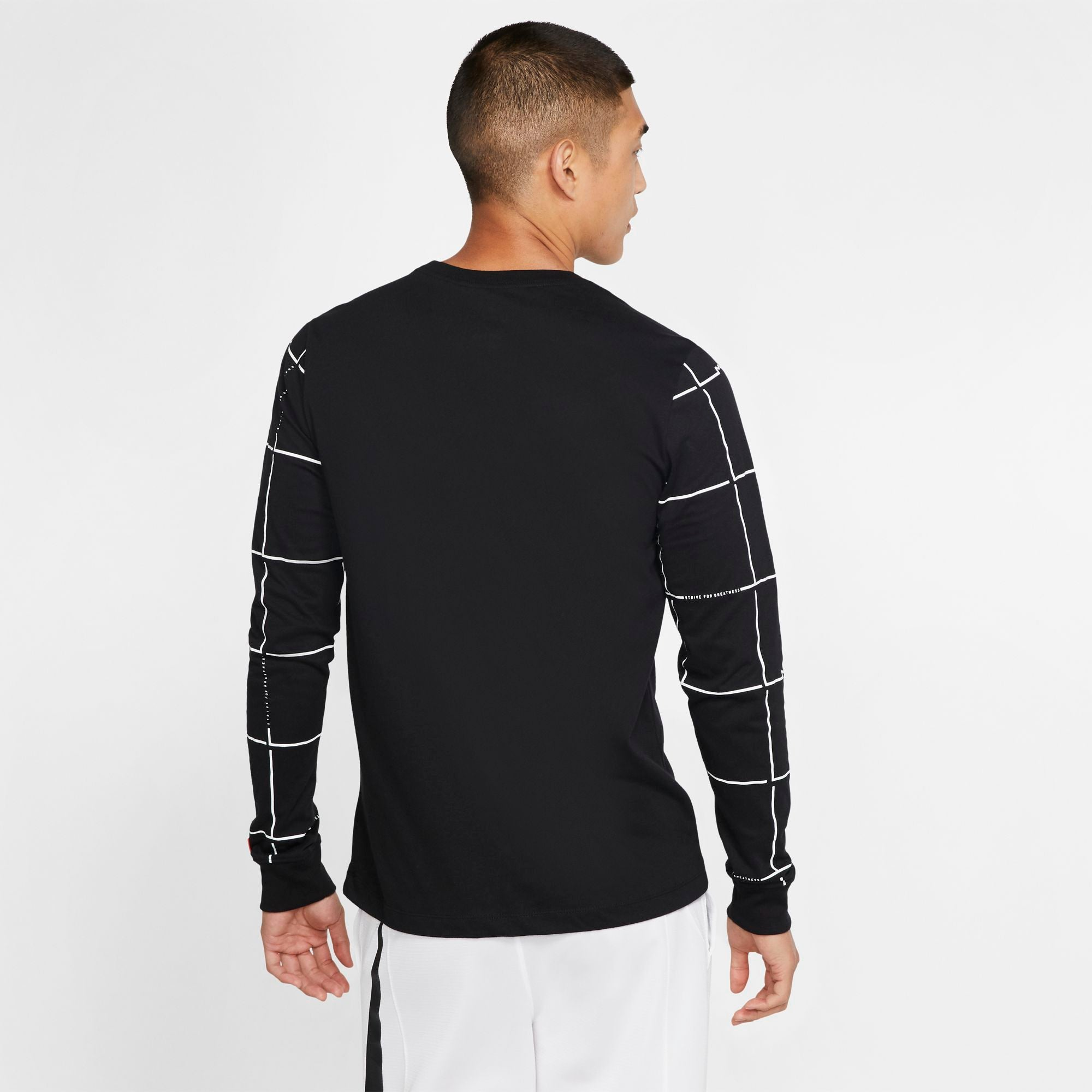 Nike Lebron Dri-fit Long-Sleeved Basketball Tee - Black