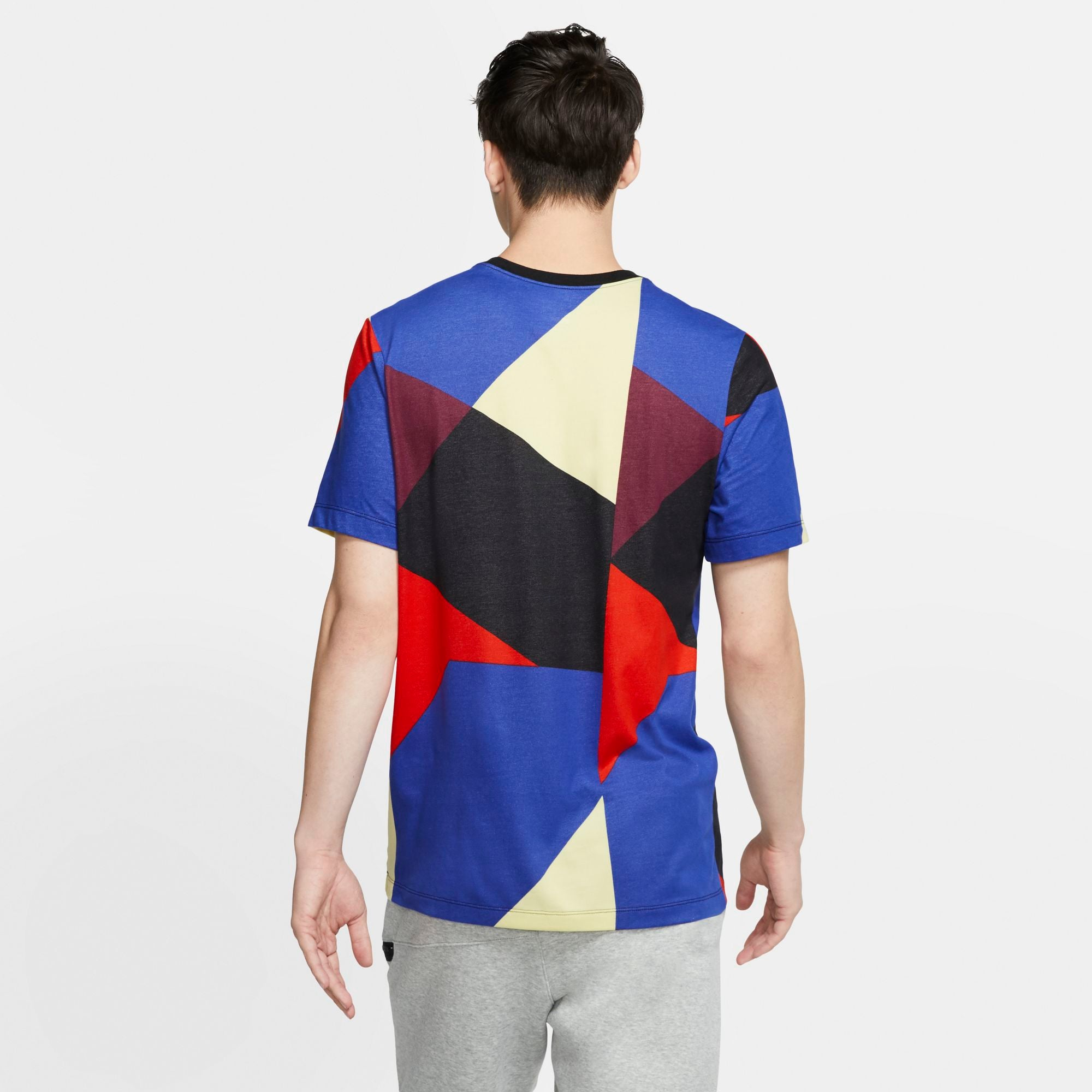 Nike Kyrie Basketball Edgy Dri-fit Tee - White/Black/Deep Royal Blue/Habanero Red