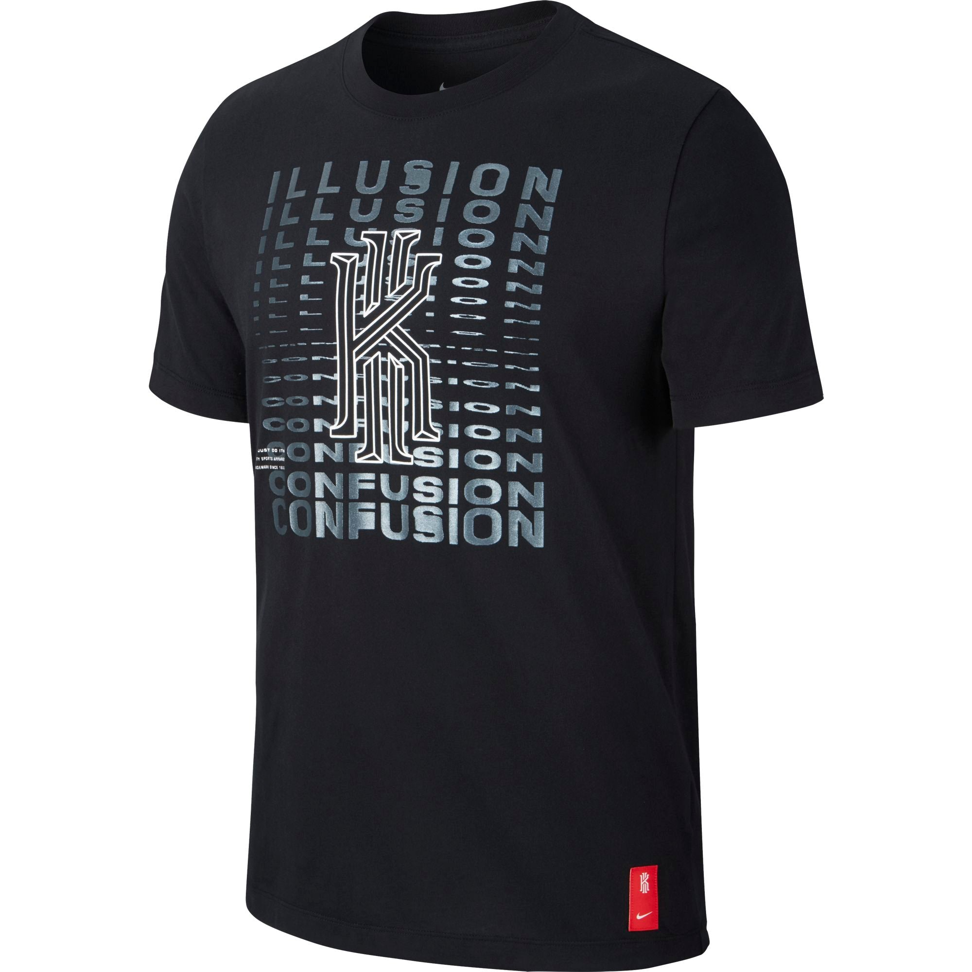 Nike Kyrie Dri-fit Basketball Illusion Confusion Logo Tee - NK-CD1322-010