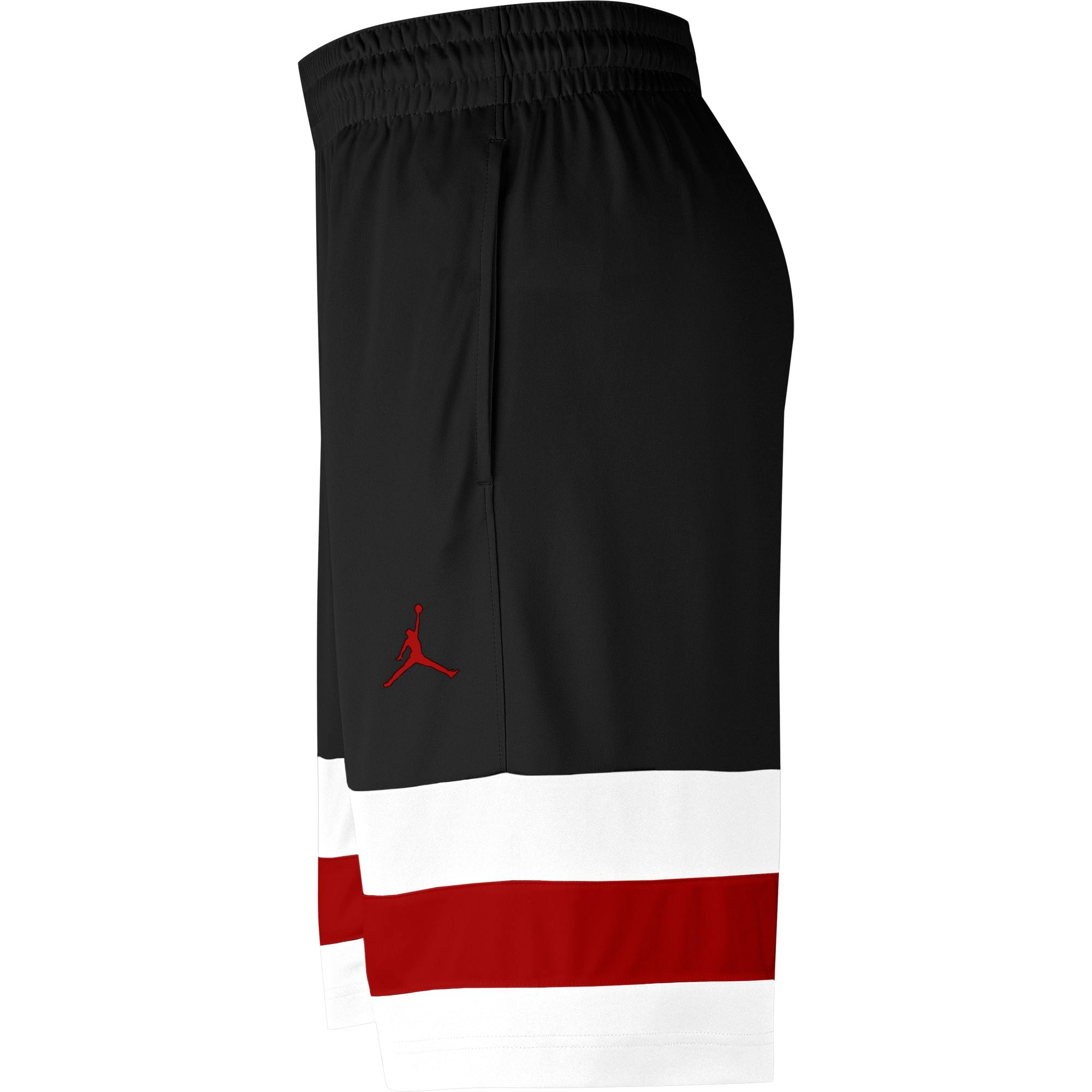 Nike Jordan Jumpman Hooped Basketball Shorts - Black/White/Gym Red