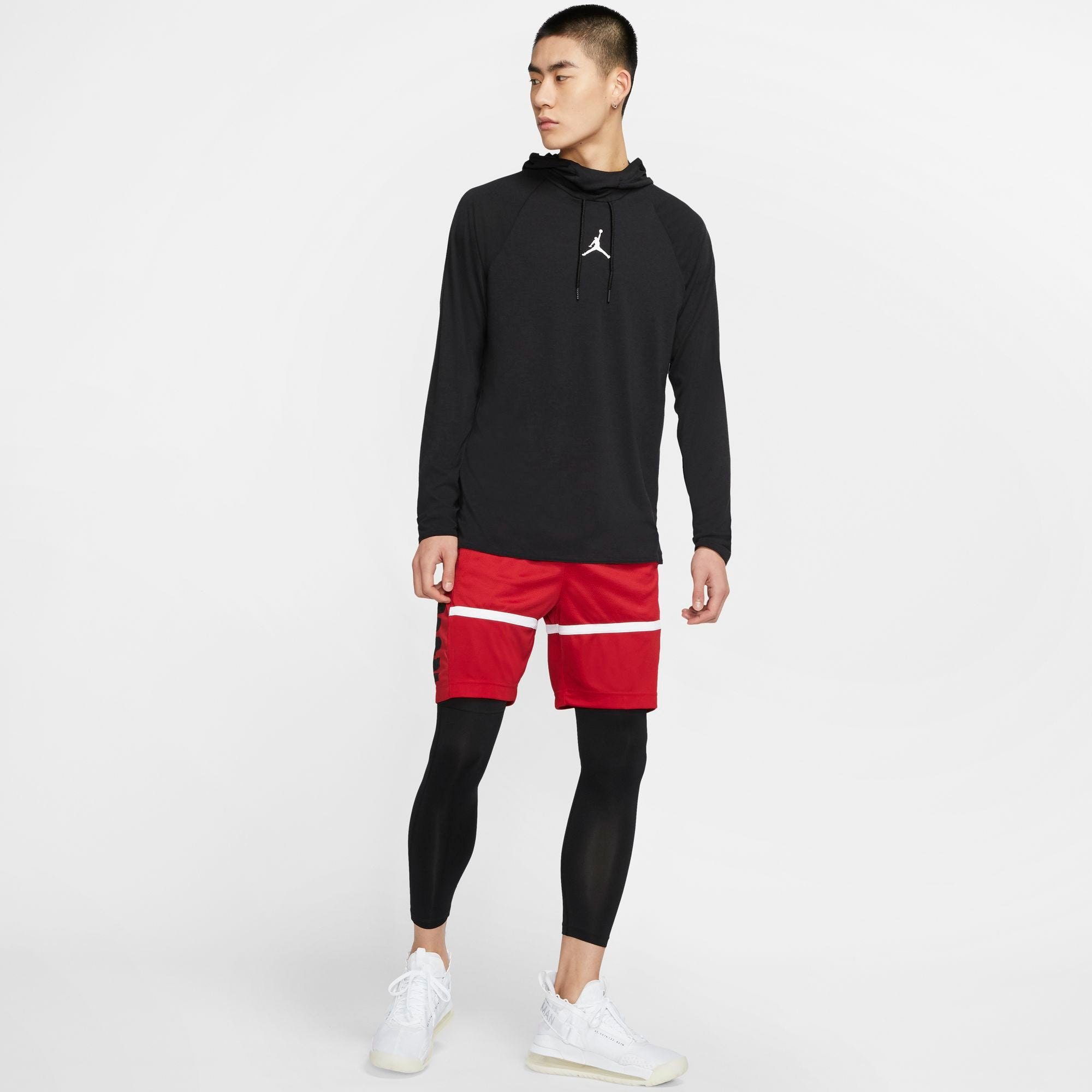 Nike Jordan Dri-Fit 23 Alpha Hooded Training Top - Black/White