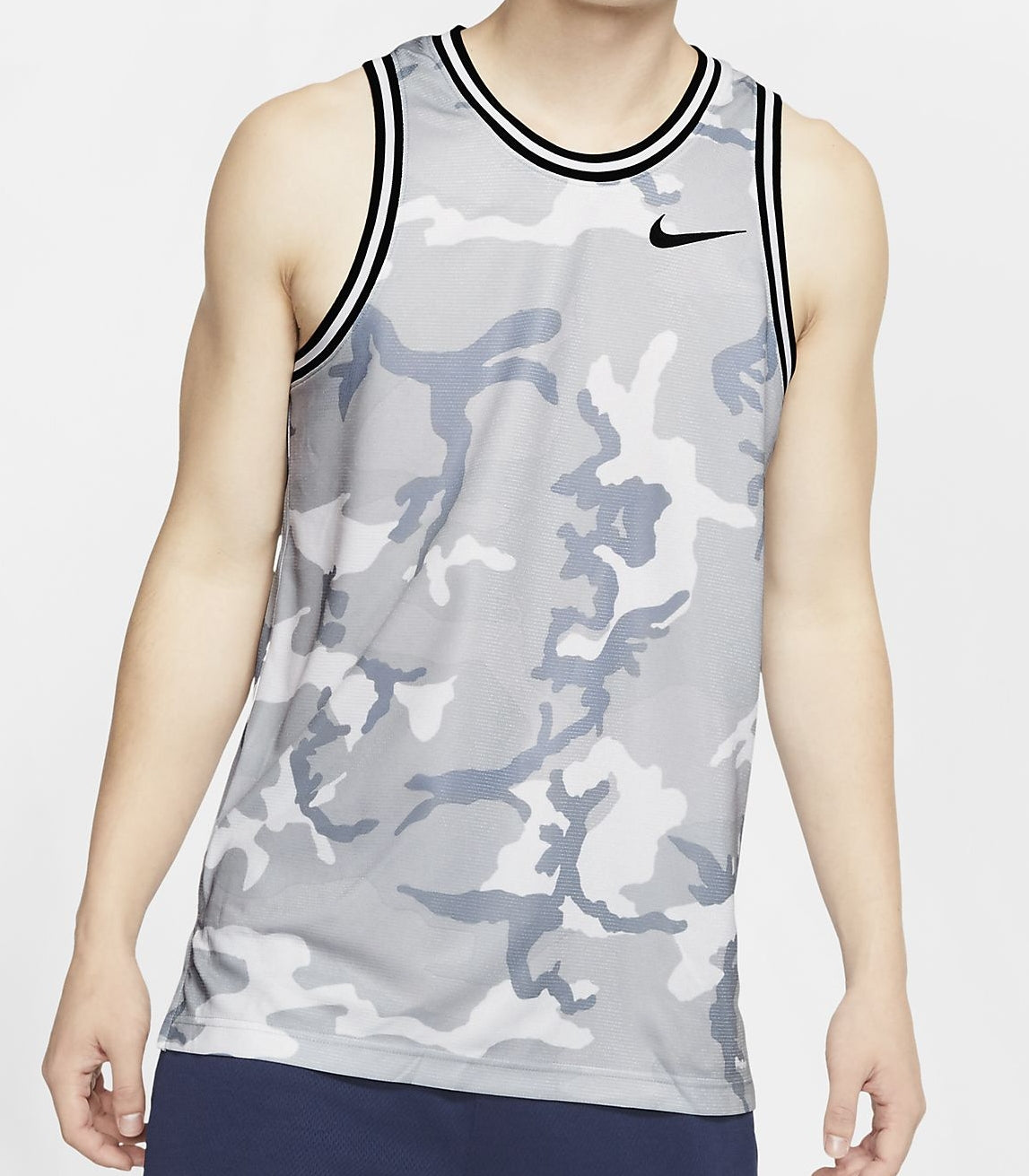 Nike Basketball Dri-Fit DNA Camo Graphic Sleeveless Jersey - Wolf Grey/Black