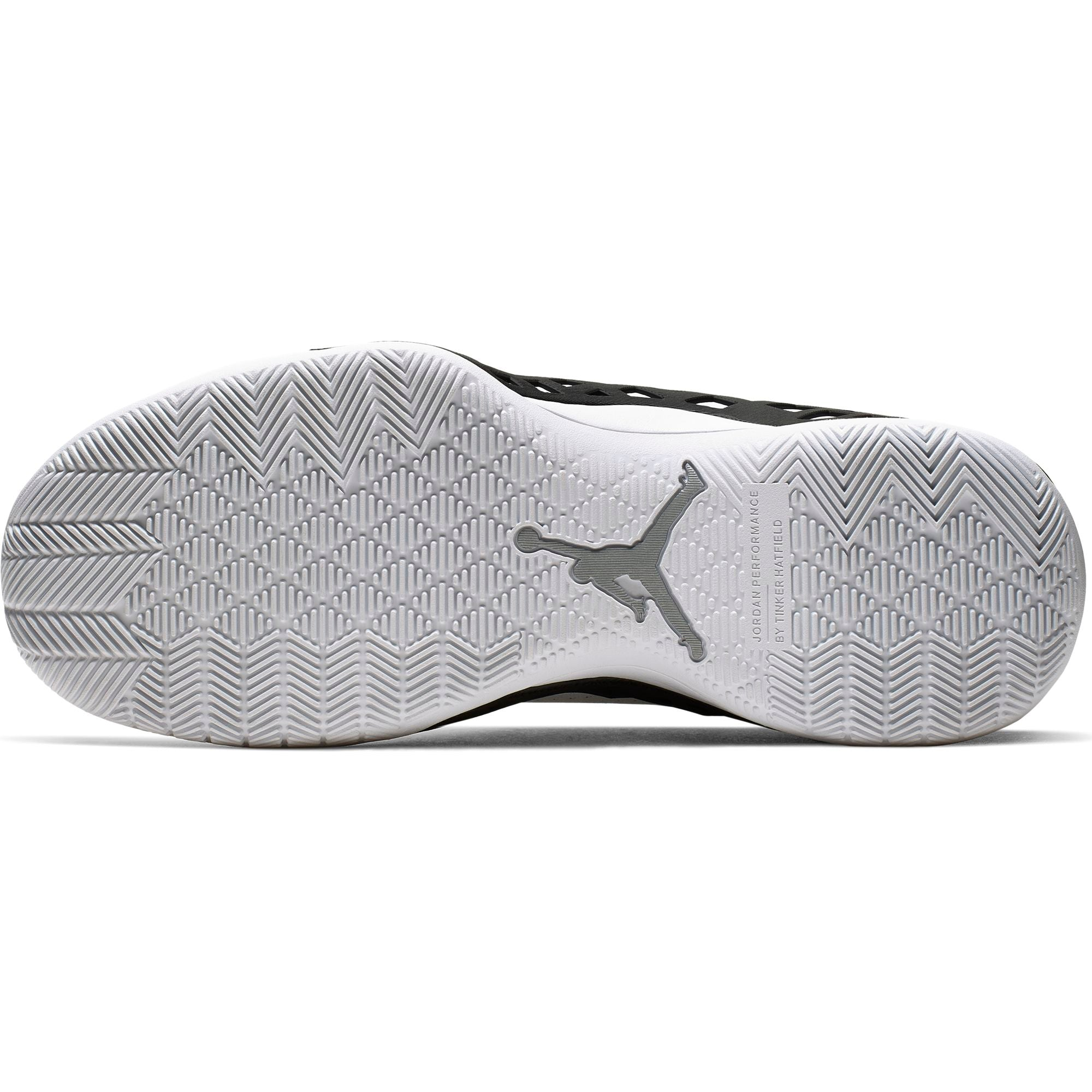Nike Jordan Jumpman Diamond Mid Basketball Boot/Shoe - White/Metallic Silver/Black