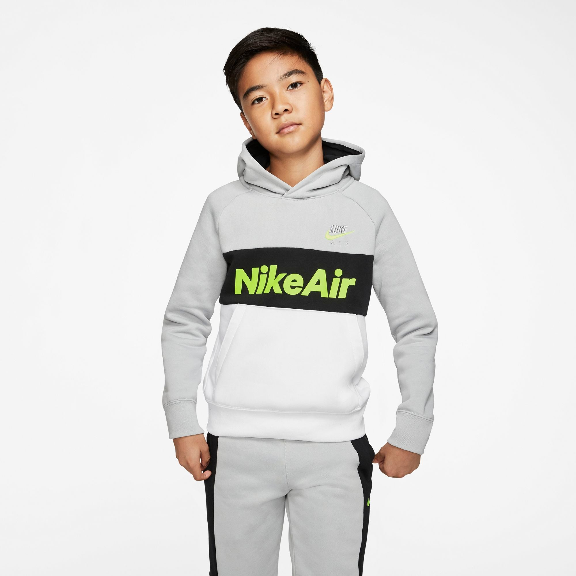 Nike Kids Air Pullover Fleece Hoodie - NK-CJ7842-077