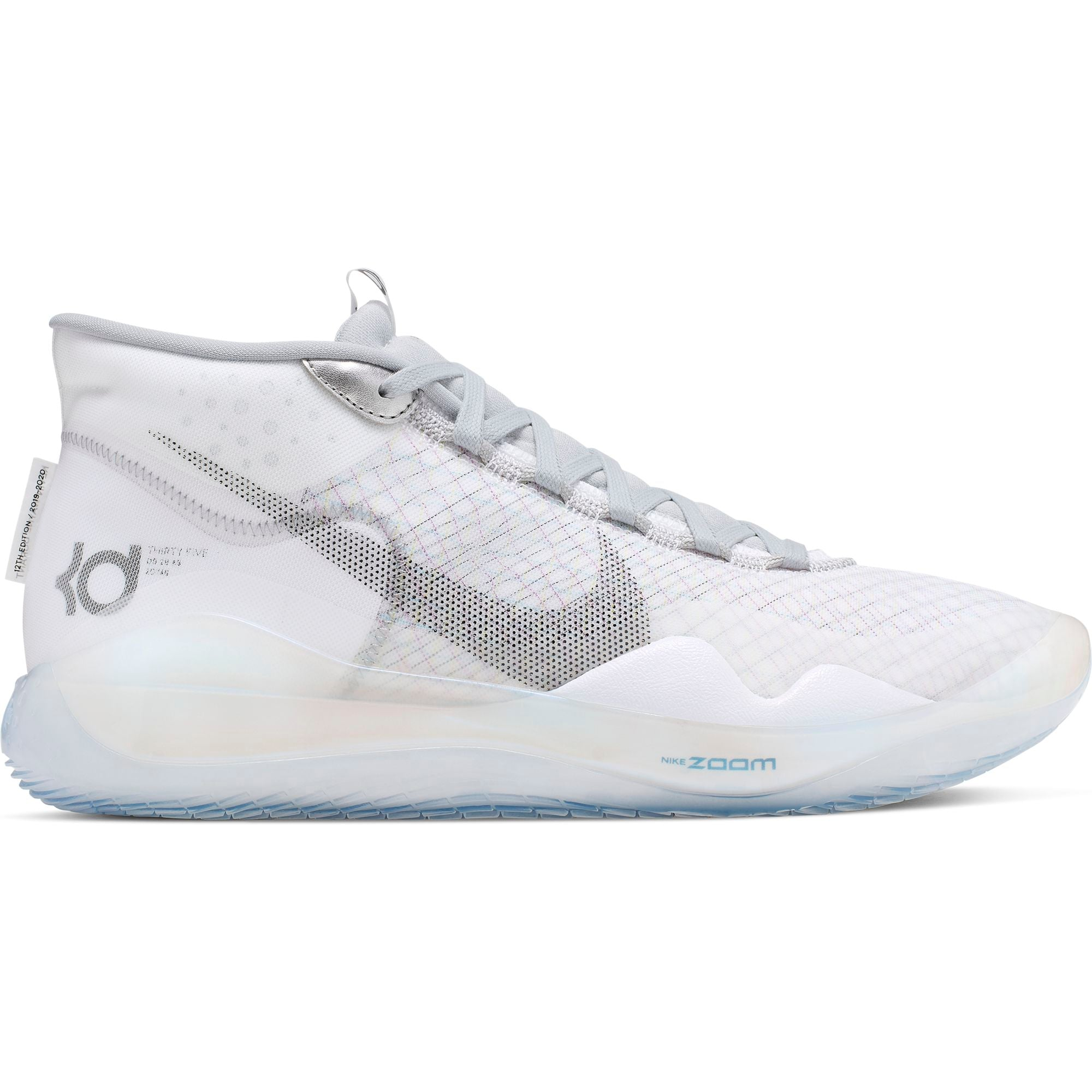 Nike KD Zoom KD12 Basketball Boot/Shoe - White/Black/Wolf Grey