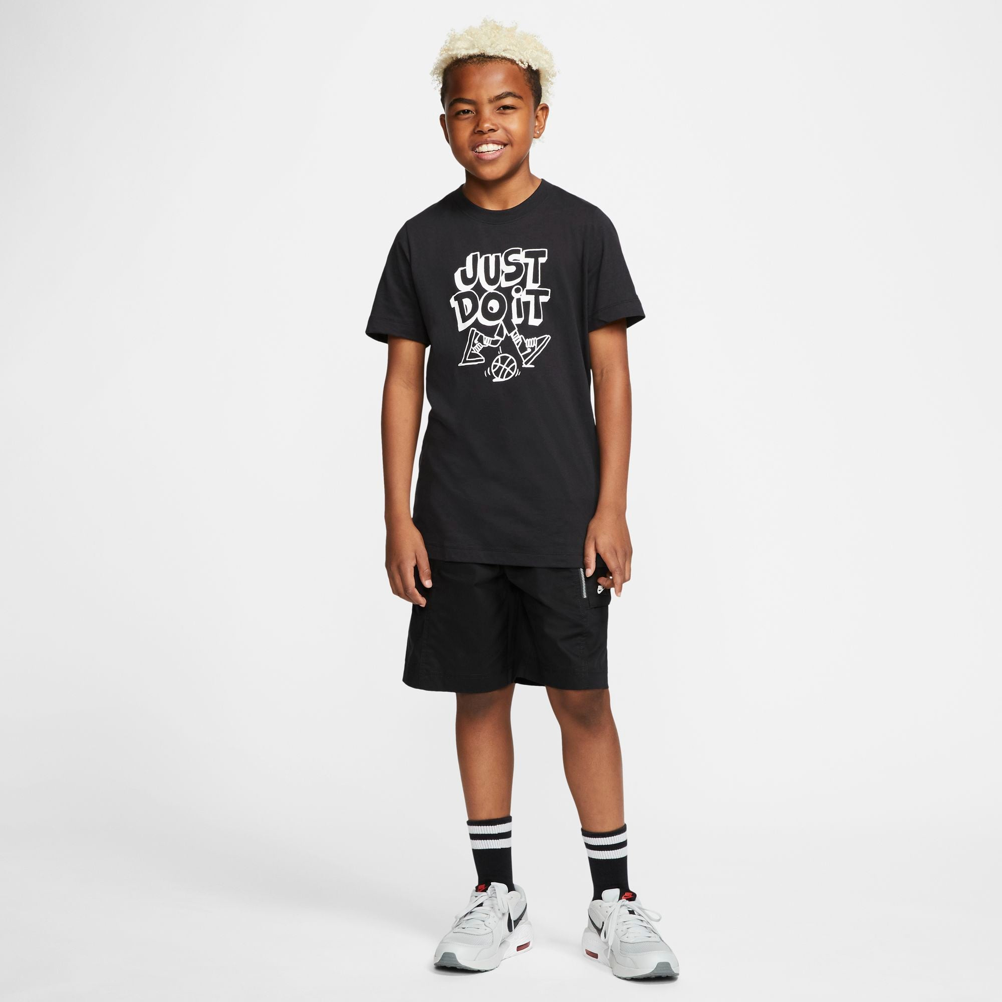Nike Kids Basketball Is Life - Just Do It Tee - Black