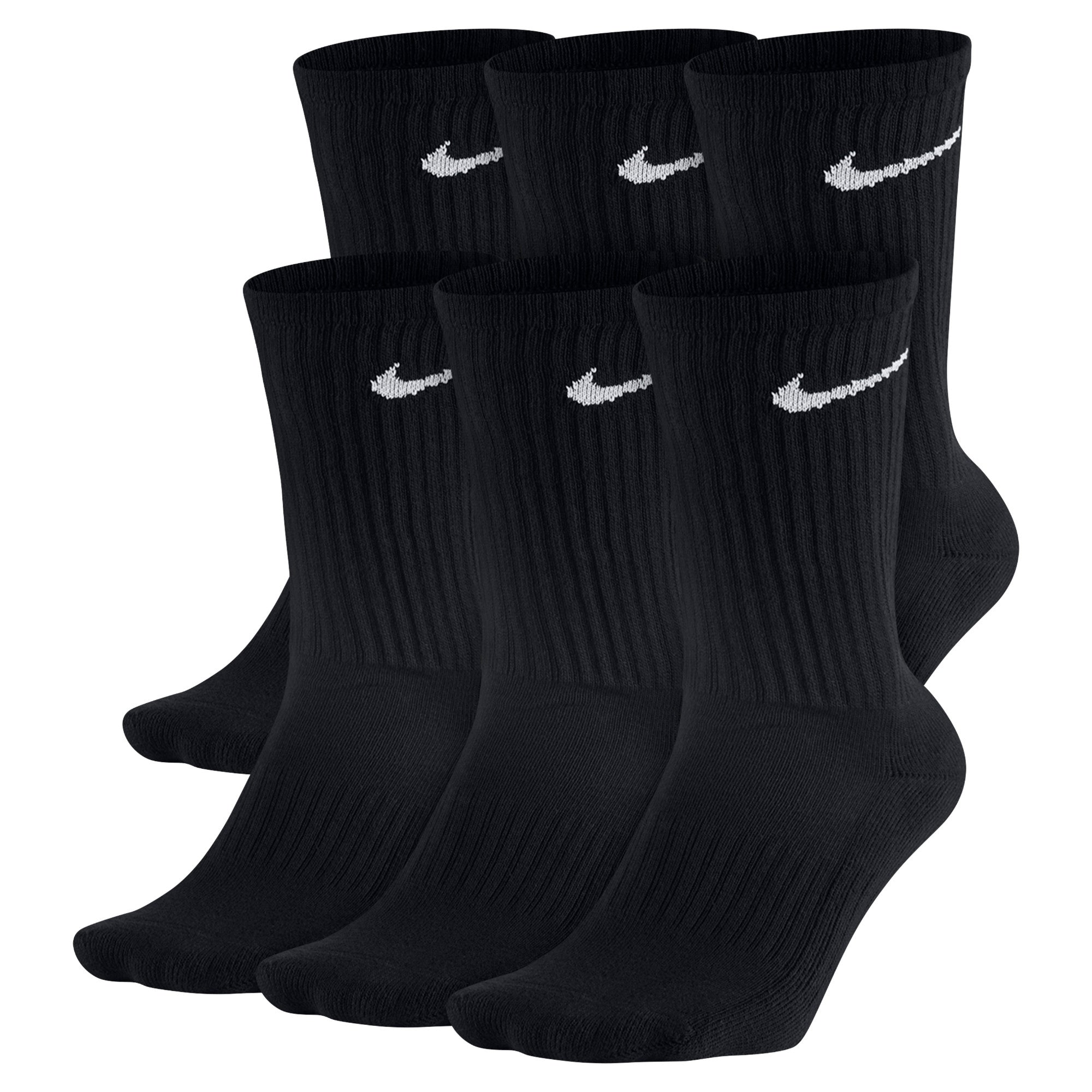 Nike Unisex Performance Cushioned Crew Socks (6 pair pack)  NK-SX5171-010