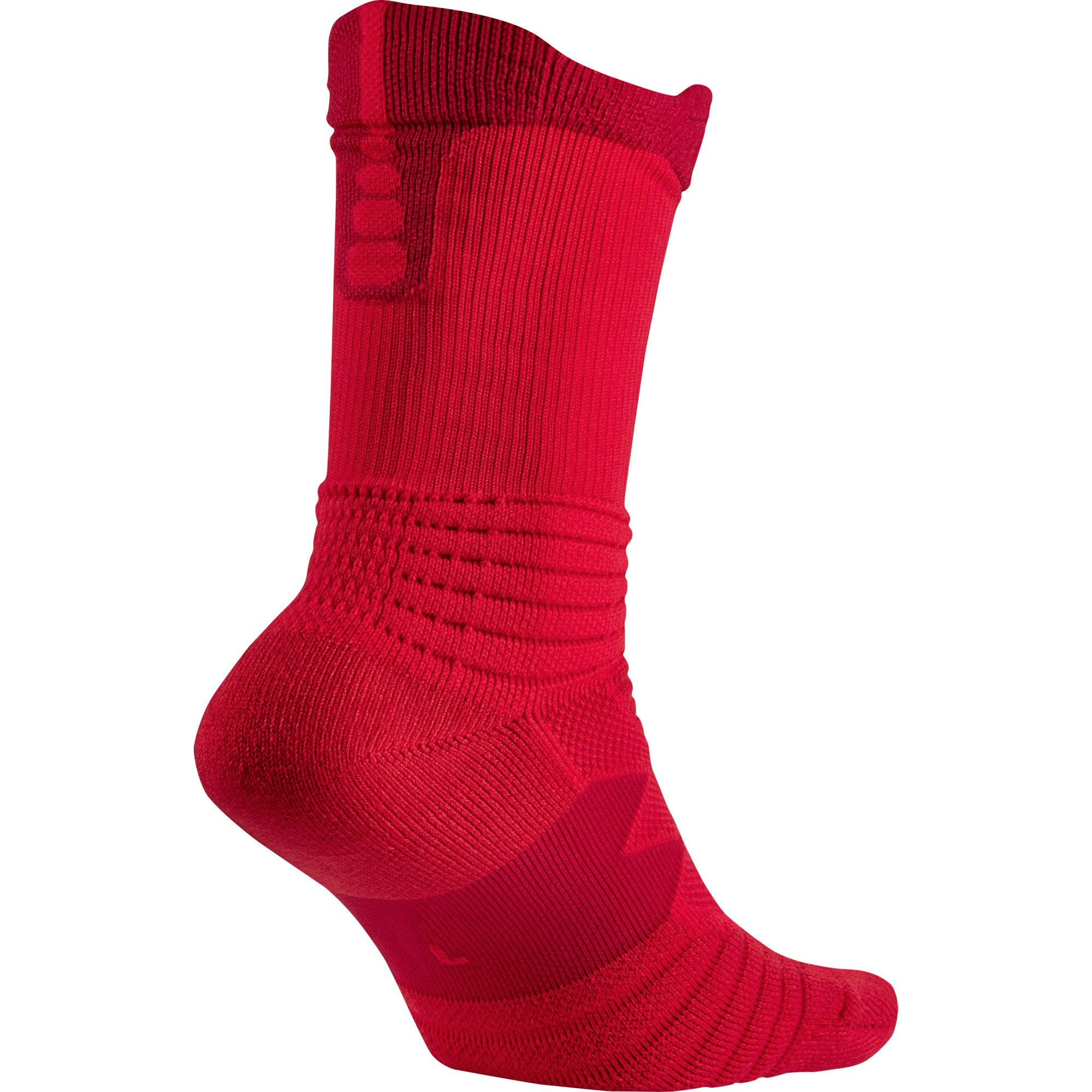 Nike Basketball Elite Versatility Basketball Crew Socks - University Red/Gym Red