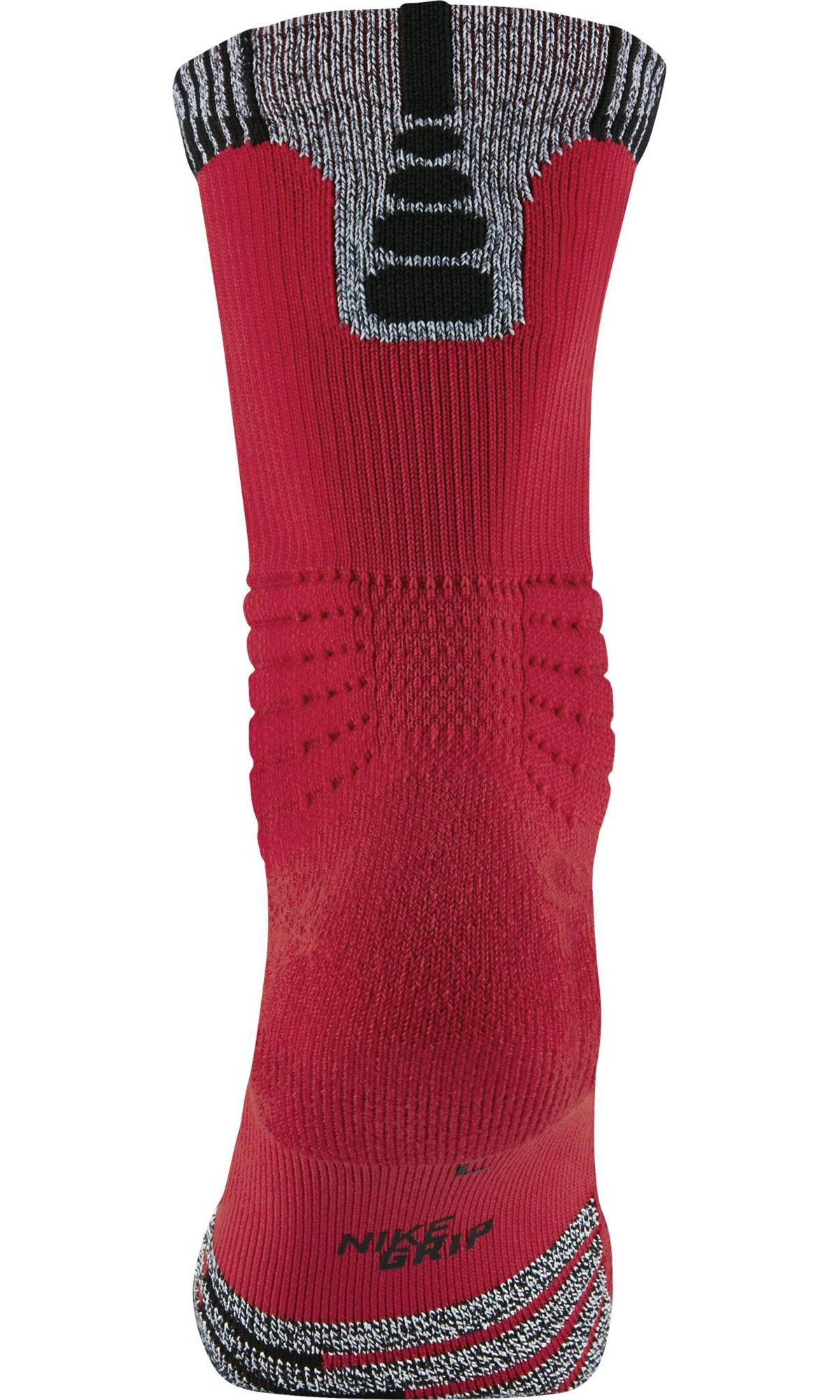 Nike Basketball Unisex Nikegrip Versatility Crew Socks (1 Pair) - University Red/Black
