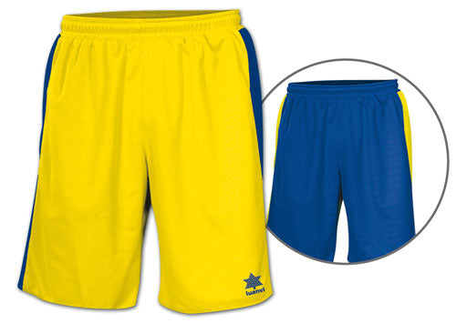Luanvi Unisex Team Reversible Shorts - Yellow/Royal Blue LU-05126-0027