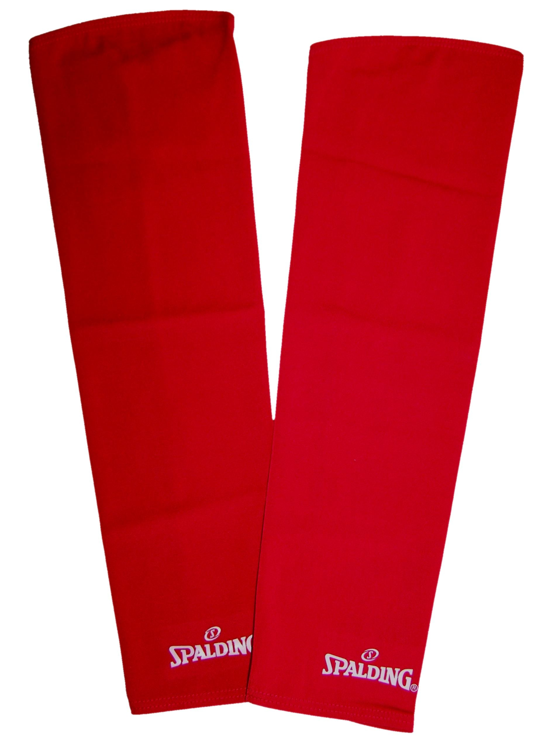 Spalding Shooting Compression Sleeves (Pack of two) - Red-L SP-3009284-03