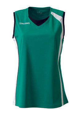 Spalding 4Her Basketball Top - Green/White/Black SP-3012444-04