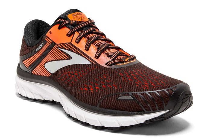 Brooks Adrenaline GTS 18 Men Orange / 7 Sports Shoes India