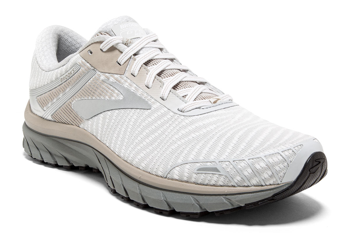 Brooks Adrenaline GTS 18 Men White / 7 Sports Shoes India