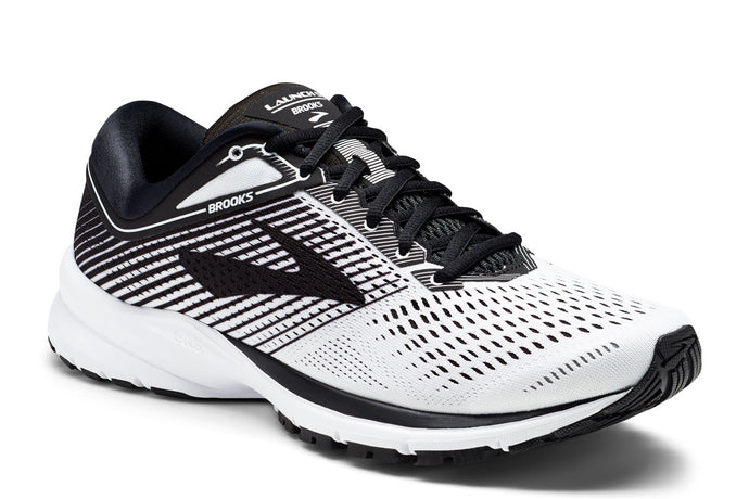 Brooks Launch 5 Men White / 8 Sports Shoes India