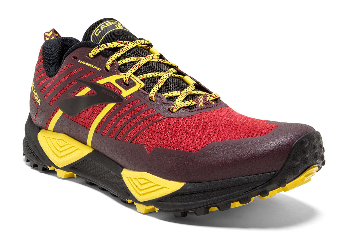 Brooks Cascadia 13 Men Red / 12 Sports Shoes India