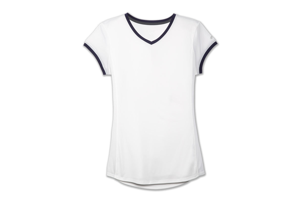 Brooks Stealth Short Sleeve Women White / XL Sports Shoes India