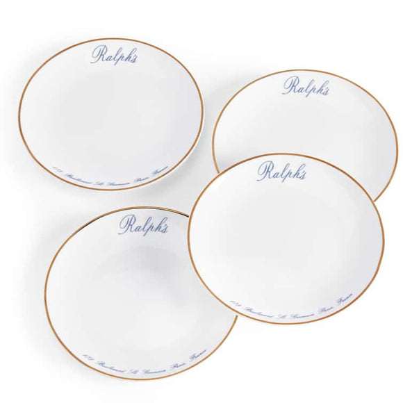 RL Paris Canape Plates - Set of 4