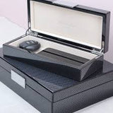 Large Carbon Fibre Lacquer Box with silver