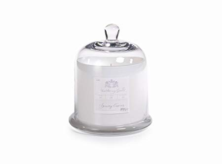 Spring Crocus Candle Jar With Glass Dome - Large