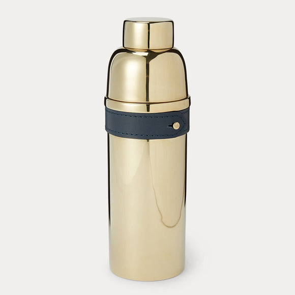 Wyatt Cocktail Shaker, Navy/Gold
