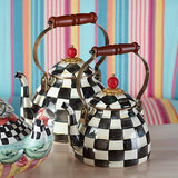Courtly Check Enamel Tea Kettle - 2 Quart