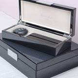 Large & Small Carbon Fibre Lacquer Box with Silver - Addison Ross