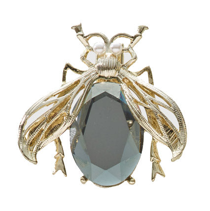 Classic Smoked Crystal Bug Clip
