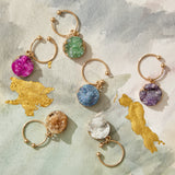 Druzy wine charms, set of six