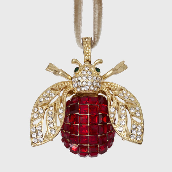 Sparkle Bee Hanging Ornament _ Ruby