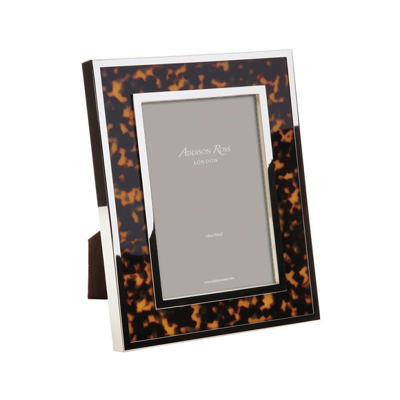 Chunky Faux Tortoiseshell & Silver Photo Frame - Addison Ross