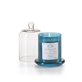 Pacific Blue Candle Jar With Glass Dome - Medium