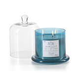 Pacific Blue Candle Jar With Glass Dome - Large