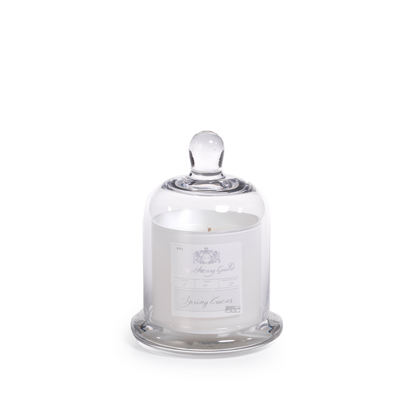 Spring Crocus Candle Jar With Glass Dome - Small