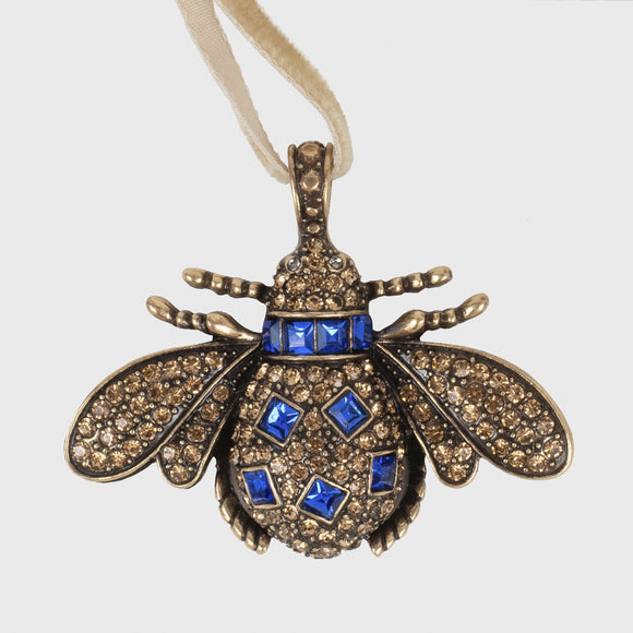 Cobalt Insect Hanging Ornament
