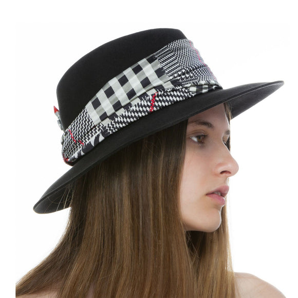 Multi Checks Silk Hat