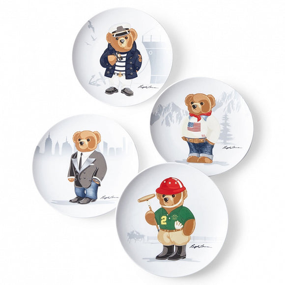 Haven Bear Dessert Plate Set