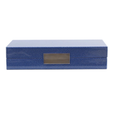 Blue Shagreen Box with Silver