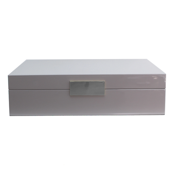 Large Chiffon Jewellery Box With Silver