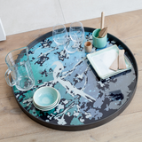 birds of paradise handpainted glass tray by ethnicraft