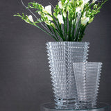 Large & Small Rectangular Eye Vase Clear, Baccarat