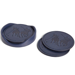 Garrett Coasters, Navy  - Set of Four