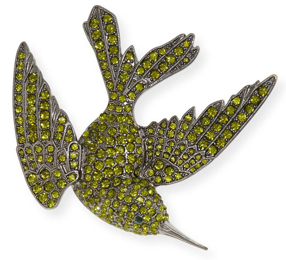 Sparkle Bird Clip, Green
