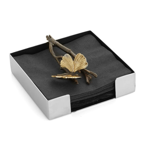 Butterfly Ginkgo cocktail Napkin Holder - Michael Aram