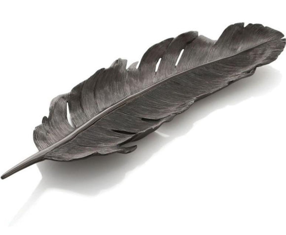 Feather Tray in Black Nickel, Michael Aram